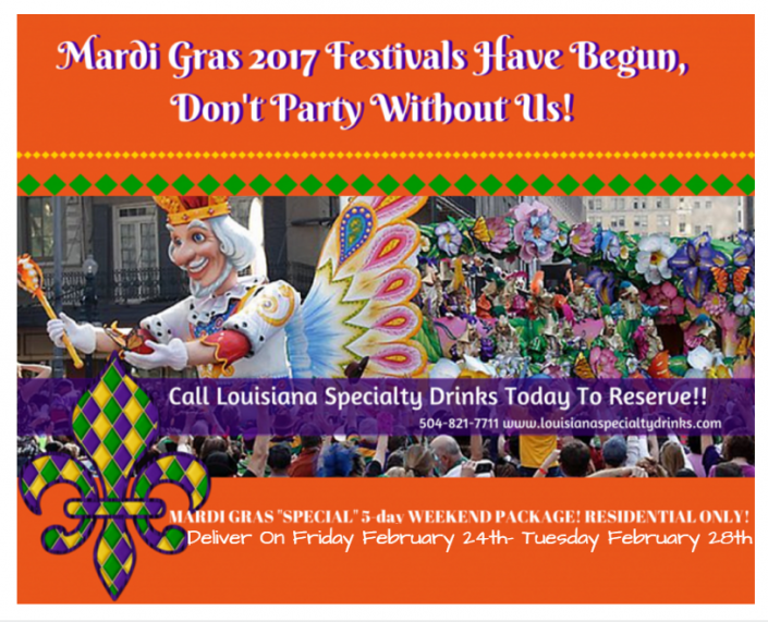 Let the festivals began! Call Louisiana Specialty Drinks Today to reserve your frozen daiquiri machine!